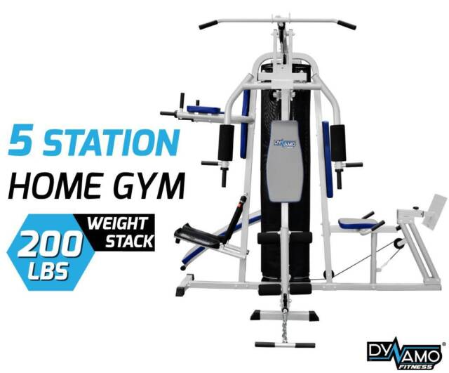 Home gym multi station in leg press boxing stand new