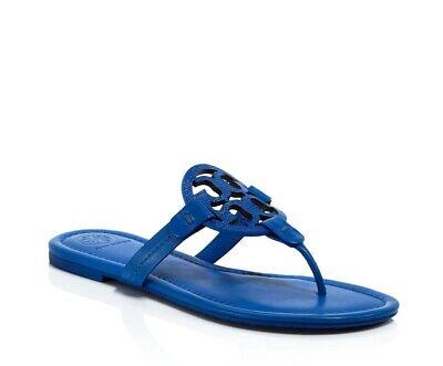 NIB TORY BURCH MILLER BRIGHT TROPICAL BLUE FLIP FLOP THONG SANDAL SHOE/Sz 6.5