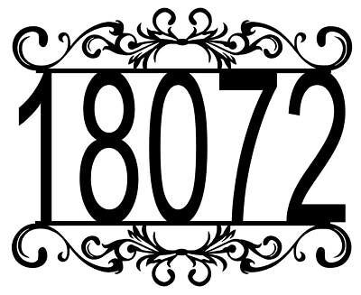 House Number Plaque, Metal Sign, Home Decor, Address #11, Mailbox  ()