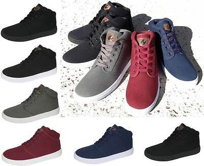 NEW MEN'S CANVAS SKATE BOARD STYLE SHOES HAWK HI-TOP