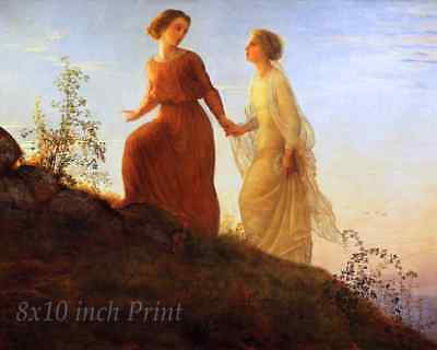 Poem of the Soul - On the Mountain by Louis Janmot - Spirit  8x10 Print 2335