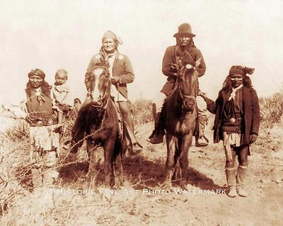APACHE INDIAN CHIEF GERONIMO VINTAGE PHOTO NATIVE AMERICAN OLD WEST 1886  #21412