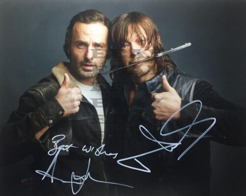 Norman Reedus Andrew Lincoln Autographed Signed 8x10 Photo Reprint