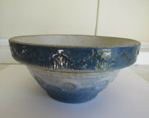 Stoneware Blue & White Wedding Ring Bowl - C - 1890