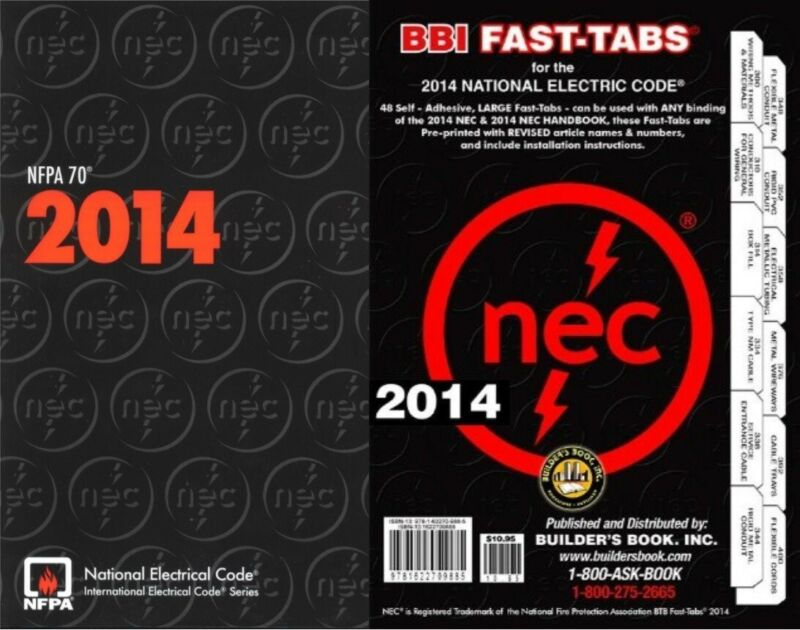 NFPA 70: National Electrical Code (NEC) 2014 Edition with Fast Tabs Set
