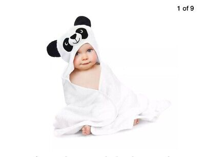 Baby Hooded Towel Bamboo Panda Baby Towels for Boys and Girls 38 × 38 inches