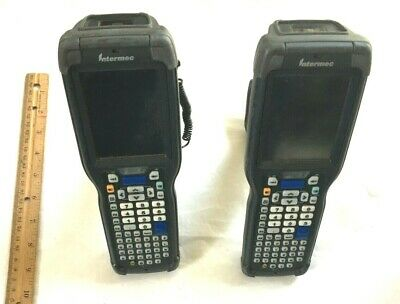Intermec Handheld Computer Scanner Lot Of 2 Ck71a W Battery Pack Stylus