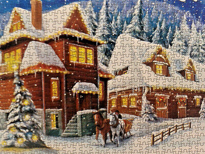 500 Pieces Cardinal Puzzles Winter Wonderland Jigsaw Puzzle /New
