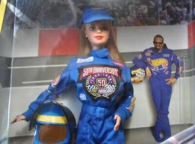 Mattel 50th Anniversary NASCAR 1998 Barbie New in box, with helmet, jumpsuit Jumpsuits Nascar