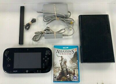 NINTENDO WII U CONSOLE COMPLETE WUP-101 AND VIDEO GAME 32GB BLACK SYSTEM