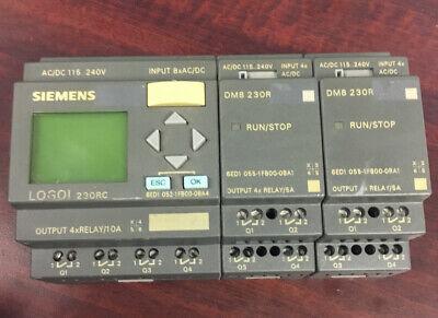 Siemens Logoi 24rc 6ed1 052-1 Hb00-0ba4 With 2x Dm8 230r Modules