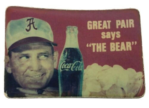 """BEAR Bryant COCA COLA Magnet - GREAT PAIR says """"THE BEAR"""" Vintage"""