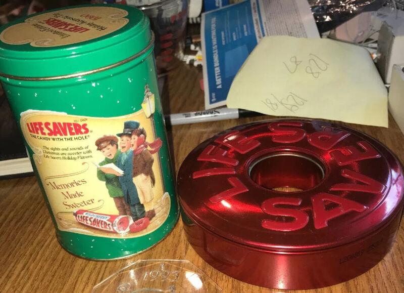 2 Vintage Life Savers Holiday 1990 Limited Edition Tin Lot