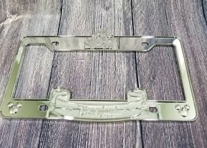 Disneyland Sleeping Beauty Castle Chrome Metal Car License Plate Frame