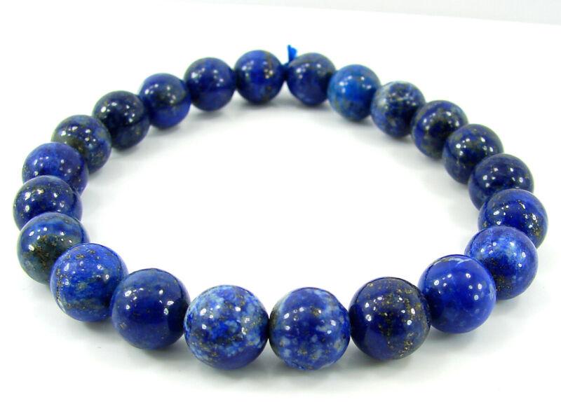 100 Ct Natural Lapis Lazuli Round Beads 8-9 mm Stretch Gemstone Bracelet - B575