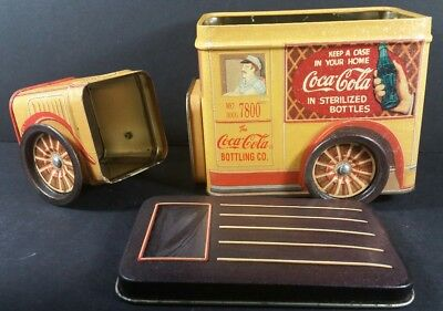 Coca-Cola Tin Truck 2 Separate Compartments Movable Wheels 1994 Bristolware Toy