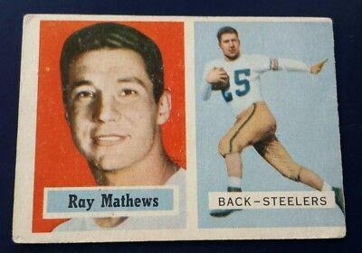 c138aa4c 1957 Topps Ray Mathews Pittsburgh Steelers #63