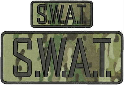 Sheriff SWAT embroidery patch 3x10 and 2x4 hook on back multicam