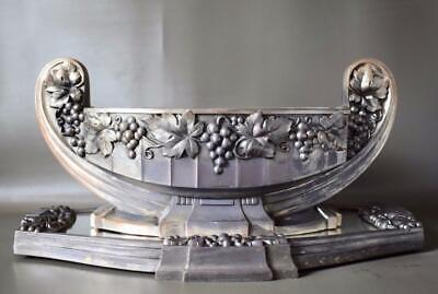 French Antique  Silvered Metal Jardiniere And Mirrored Tray Circa Late 1800/'s