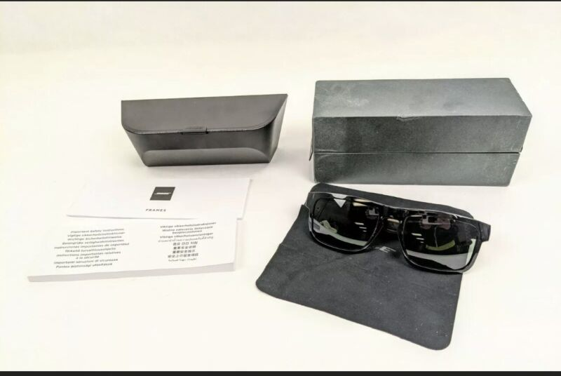 *Mint* Bose Frames Tenor Rectangular Bluetooth Audio Sunglasses Black With Box!!