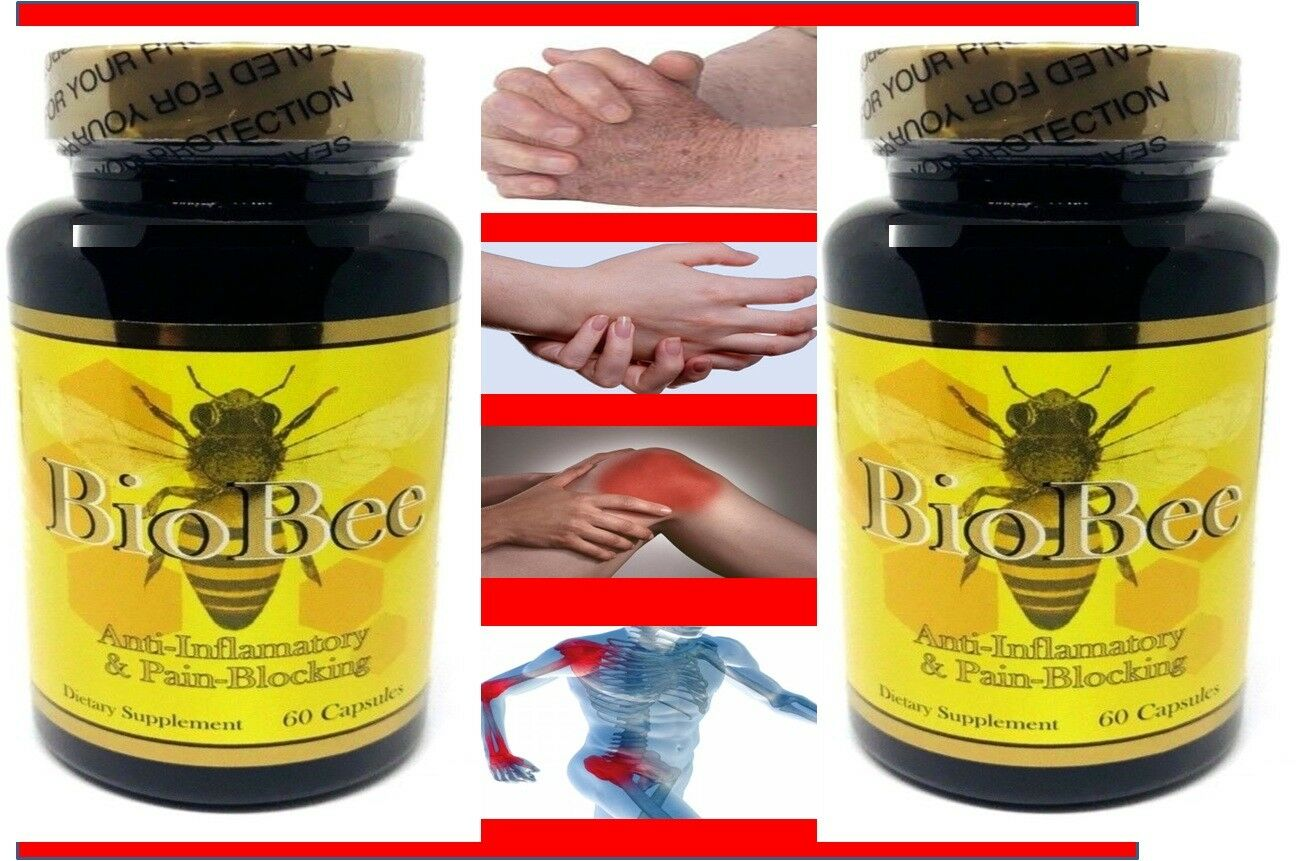 2 BioBee Muscle Joint Relief Arthritis Anti-Inflammatory Cure Bee Therapy Pill 2