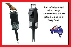 Golf Shag Bag - Convenient Pocket and Tees Pick Up Balls Ball Storage Portable