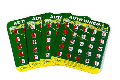 Regal Games Original Travel Bingo Pack of Four Green Auto Bingo For Roadtrips