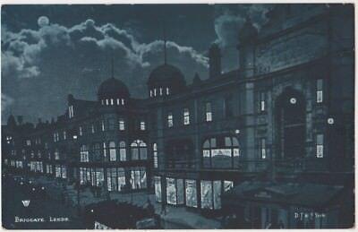 Briggate, Leeds Moonlight Postcard B868