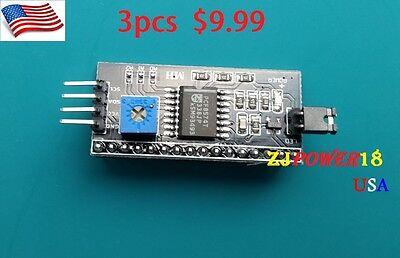 3pcs Iici2c Serial Interface Adapter Board Arduino Lcd1602 Display