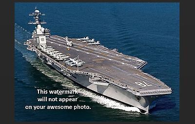USS Gerald Ford PHOTO Art Print CVN-78 Nuclear Navy Supercarrier Military