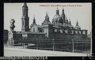 630.-ZARAGOZA -8183 Vista del Pilar desde el Puente de Piedra (Fototipia Thomas)