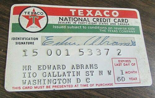 1960 TEXACO - NATIONAL CREDIT CARD - ORIGINAL