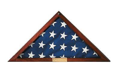 Triangle Flag Case (Personalized Glass/Wood Triangle Flag Display Case)