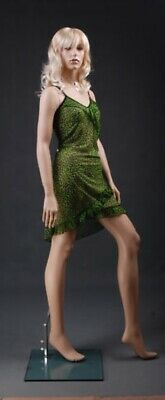 5 10 Tall Fiberglass Female Mannequin Realistic Wig 332434 Hlm7