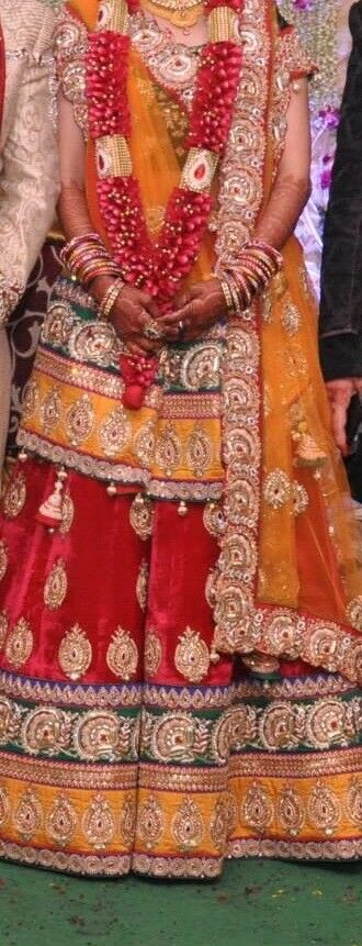 Indian/asian wedding bridal dress- cut the stereotype red