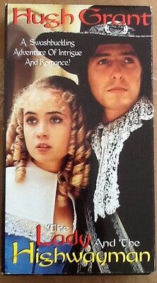 The Lady And The Highwayman VHS Hugh Grant 1989 TV movie OOP rare film misprint