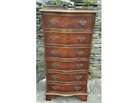 Reproduction mahogany tall chest of drawers