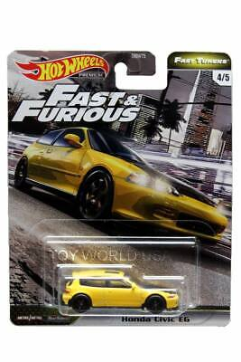 2020 Hot Wheels Fast & Furious Premium Fast Tuners #4 Honda Civic EG