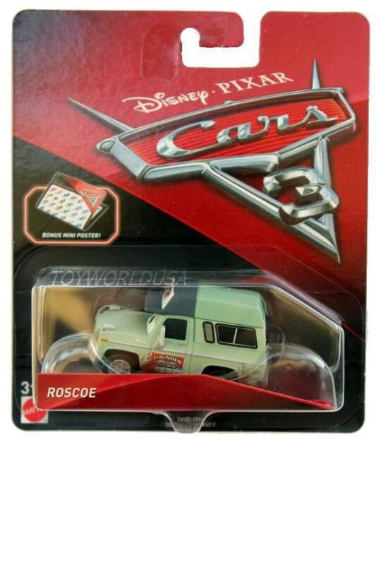 Disney Pixar Cars Diecast Rare Roscoe Deluxe Thunder Hollow 2018-2019