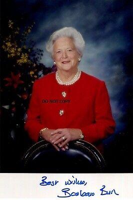 Usa 1St Lady Barbara Bush 8X10 Signed Autograph Reprint Photo Picture Rp