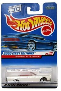 2000 hot wheels 63 first edition 1964 lincoln continental. Black Bedroom Furniture Sets. Home Design Ideas