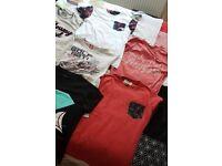 12+ mens t-shirts. All size S / Small. Incld: Superdry, Zara, River Island, Diamond