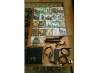 Xbox 360 with 22 games, controller, turtle beach headset and kinect
