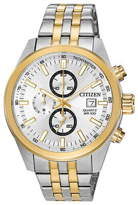 Citizen Quartz Men's Chronograph Multi Dial Two Tone 43mm Watch AN3624-51A