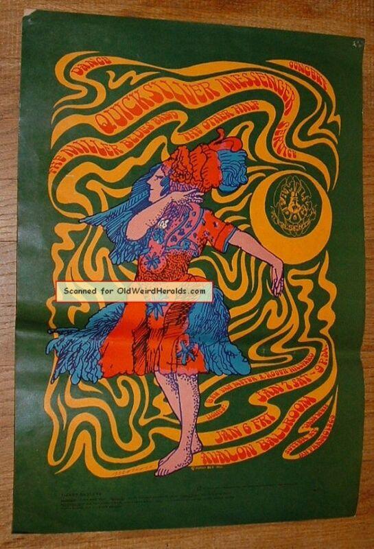 QUICKSILVER MESSENGER CONCERT POSTER 2ndPrt AVALON FD-42,1967 FAMILY DOG Moscoso