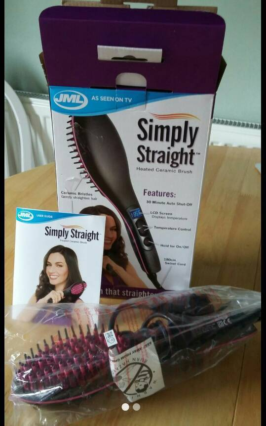 JML Ceramic Hair Straigtening Brush