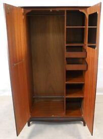 Vintage mahogany wardrobe by Stag
