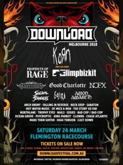 Download Festival Melbourne 2018 RIP tickets