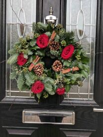Natural handmade Christmas wreath