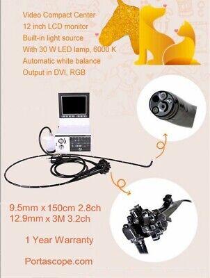 Veterinary 9mm X 150cm Rigid Video Endoscope Endoscopy Mobile Portable System